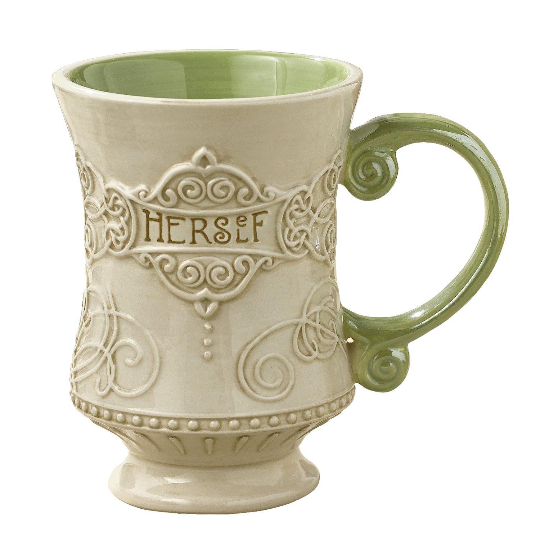 "Taza para café o té estilo Céltico de 10 onzas con la palabra ""Herself"" - Grasslands Road Celtic 10-Ounce"