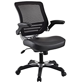 LexMod Edge Office Chair with Mesh Back and Black Leatherette Seat Reviews
