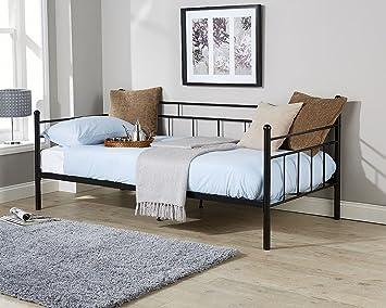 Arizona Tagesbett, Schwarz, 91cm, Einzelbett, hochwertige Qualität