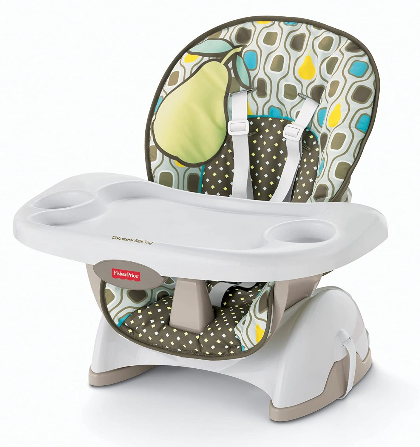 fisher price spacesaver high chair seat pad pear ebay