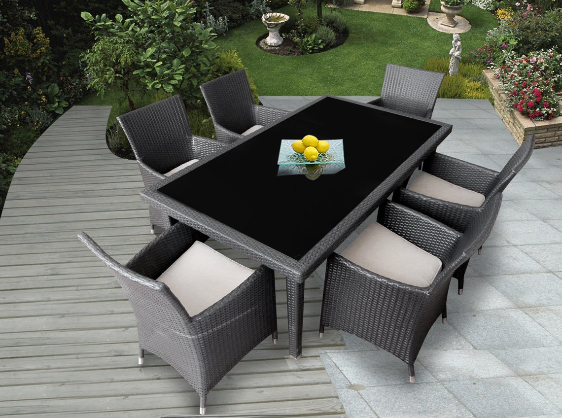 Ohana outdoor furniture decoration access for Dining lounge rattan