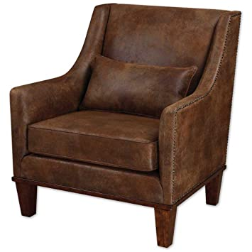 Uttermost 23030 Clay Leather Armchair