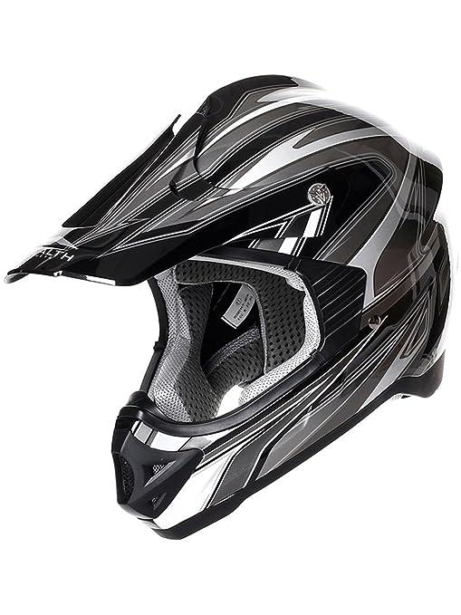 Casque Motocross Stealth 2015 HD203 Edge Noir-Argent
