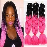3Pcs/Lot Ombre Kanekalon Braiding Hair Extensions 24
