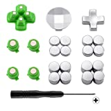 eXtremeRate Magnetic Metal Bullet Buttons, Adjustable D-pad Dpads, Repair Kit Replacement Parts for Playstation 4, PS4 Slim,PS4 Pro Controllers (23 in 1) (Color: 23 in 1)