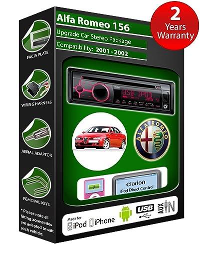 Alfa Romeo 156 de lecteur CD et stéréo de voiture radio Clarion jeu USB pour iPod/iPhone/Android