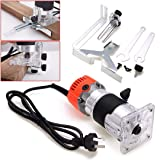 BoMiVa - 1 Set 800W 220V Trim Router 6.35mm Diam Electric Hand Trimmer Wood Laminate Palm Router Joiner Tool For Woodwooking Drilling
