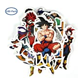 100 PCS Dragon Ball Z Stickers, Merssyria Waterproof Laptop Vinyl Stickers Car Sticker Bicycle Luggage Decal Graffiti Patches Skateboard Stickers