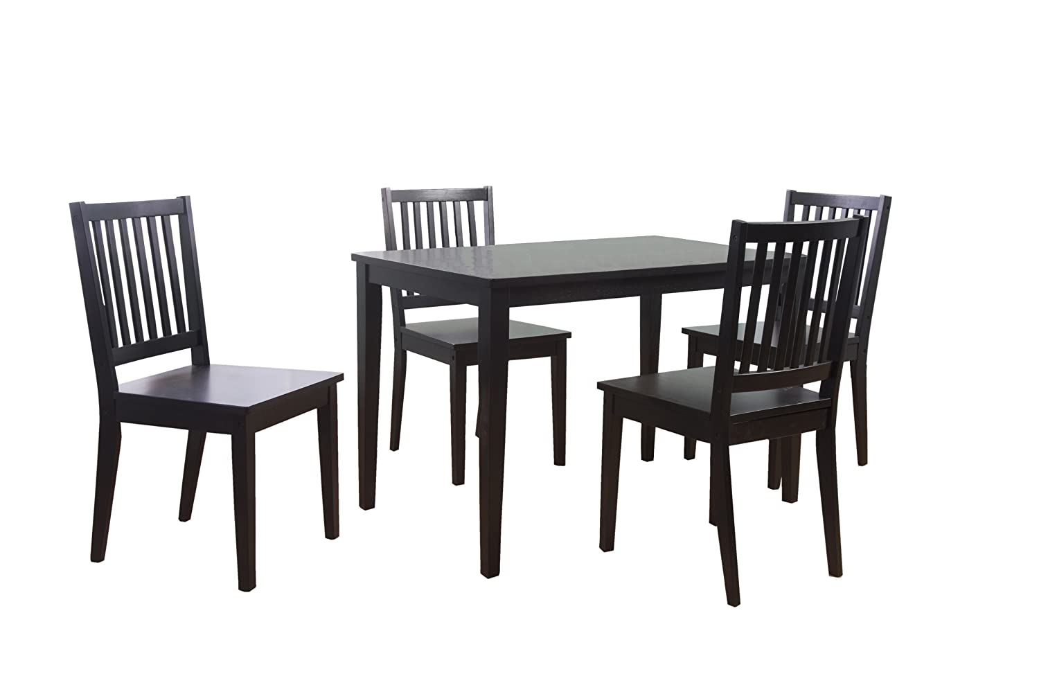 pc piece shaker dining room table slat back chair ad 3989376
