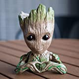 lugongjiaju Groot Action Love Figures Guardians of The Galaxy Flowerpot Baby Fashion Cute Model Toy Pen Pot Best Gifts 5.51 inch (Color: Third Generation)