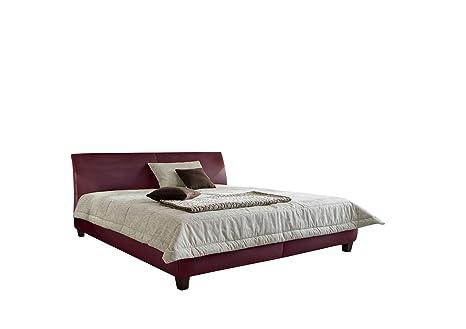 Maintal Betten 231726-4793 Polsterbett June 160 x 200 cm, Kunstleder bordeaux