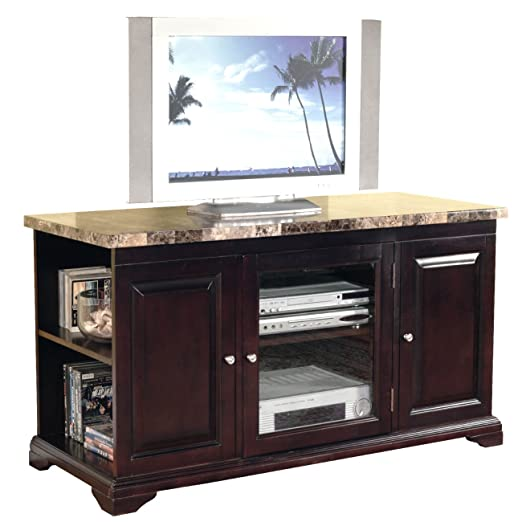 Home Source 24518 TV Stand, 48 by 21 by 27-Inch, Mahogany
