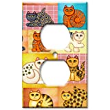 Cat Collage Decorative Switch Plate