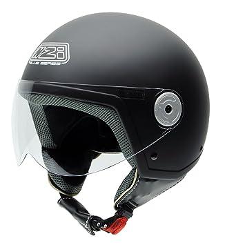 NZI 150251G093 Vintage II Sob Casque de Moto, Noir Mat, Taille : M