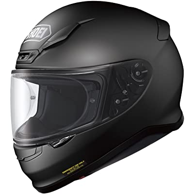 shoei rf-1200 motorcycle helmet mat black side.