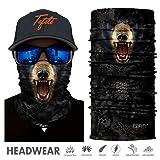 TEFITI Stretchable Face Shield Motorcycle Mask Sun UV Guards Balaclava Headwear (HR041109) (Color: HR041109)