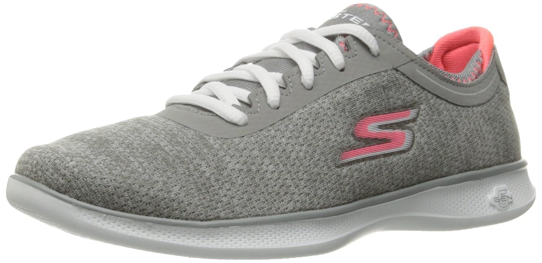 Skechers Performance Women's Go Step Lite Agile Walking Shoe, Gray/Pink, 5.5 M US