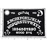 yes ouija no ABCDEFGHIJKLMNOPQRSTUVWXYZ 1234567890 GOODBYE patch Motorcycle MC Biker Vest patch Applique for Clothes Great as happy birthday gift