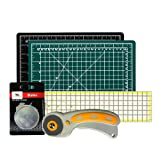 W.A. Portman Rotary Cutter with Self Healing Mat &Quilting Ruler –Professional Quilting & Sewing Set (18x24) (Color: Lea435, Tamaño: 18x24)