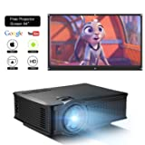 DOACE P1 HD 1080P Video Projector Indoor Outdoor with Portable Projector Screen 84