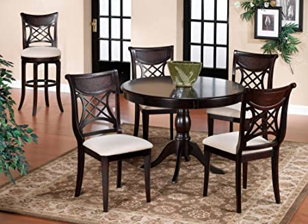 Hillsdale Furniture Bayberry Dining 5 Piece Round Dining Set (Dark Cherry)