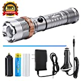 [Clearance Sale] Tactical Flashlight Rechargeable LED Flashlight With AC? Charger? Battery