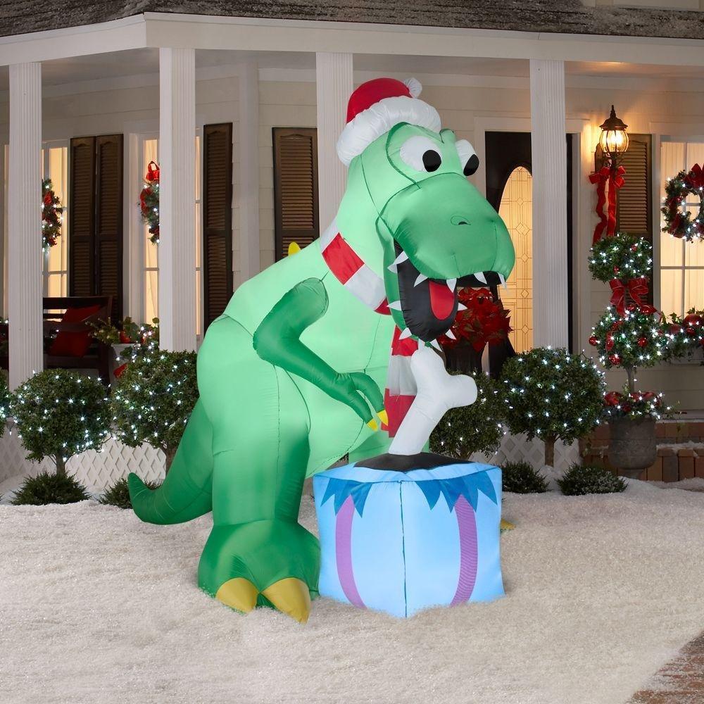 Dinosaur Christmas Outdoor Inflatables Wikii