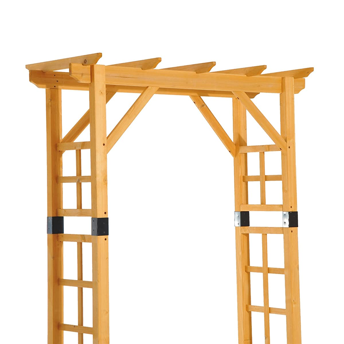 "Outsunny 84"" Wooden Garden Arbor Arch Trellis (Squared)"