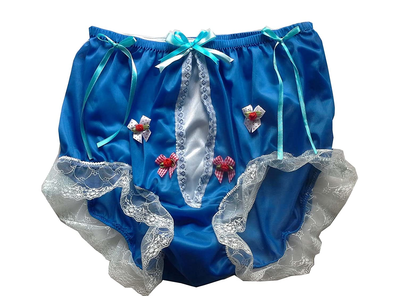 Frauen Handgefertigt Schlüpfer Neu UHDBN1253 LIGHT BLUE Briefs Nylon Panties Knicker Lacy jetzt bestellen