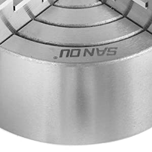 Mophorn K72-125 5 Inch 125 mm Lathe Chuck Independent Reversible Jaw Metal Turning Machine Accessories for Lathe Machine 4 Jaw Lathe Chuck (Tamaño: 72-125mm)