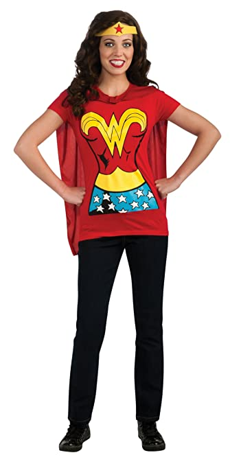 Women's Dc Comics Wonder Woman T-Shirt With Cape And Headband