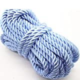 U Pick 10yds 5mm Decorative Twisted Satin Polyester Twine Cord Rope String Thread Shiny Cord Choker Thread (02:Blue) (Color: 02:blue, Tamaño: 5mm)