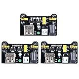 UCEC MB102 3.3V/5V Breadboard Power Supply Module for Arduino Board Solderless Breadboard (Pack of 3) (Color: 3 Pack, Tamaño: 3pack)