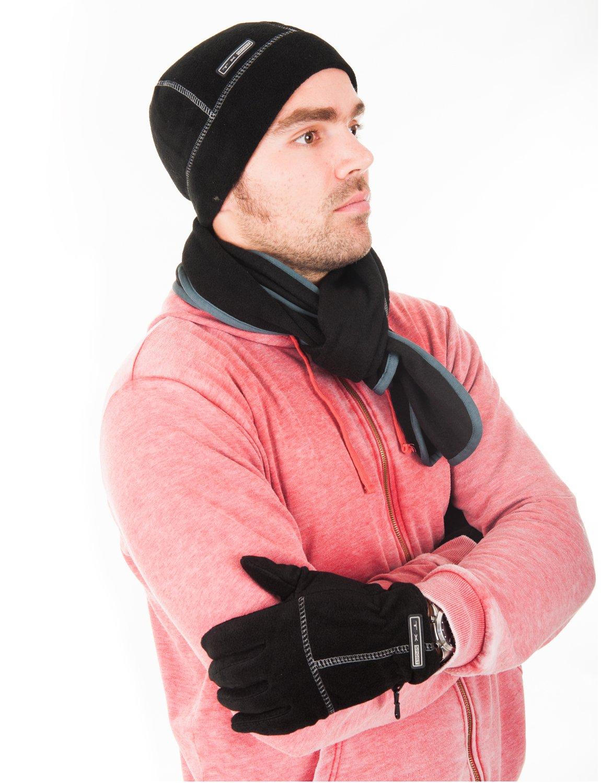 1d6dffc54db Luxury Divas Cable Knit 3 Piece Beanie Hat Texting Gloves   Matching Scarf  Set (2