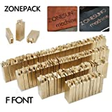 ZONEPACK Copper Brass Stamping Flexible Letters Numbers Alphabets Symbols Characters Molds CNC Engraving Molds for Hot Foil Stamping Machine (ZS-110A Futura BK BT) (Tamaño: ZS-110A F Font)