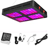 Phlizon Newest 1200W LED Plant Grow Light,with Thermometer Humidity Monitor,with Adjustable Rope,Full Spectrum Double Switch Plant Light for Indoor Plants Veg and Flower- 1200W(10W LEDs 120Pcs) (Color: 1200W)