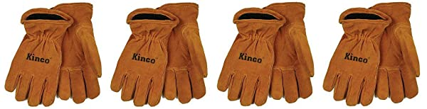 KINCO 50RL-Y Suede Cowhide Gloves, Foam/Jersey Lining, Keystone Thumb (Ages 7-12), Youth, Golden (F?ur Pa?k) (Color: Gold, Tamaño: F?ur Pa?k)