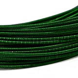 Embroiderymaterial Stiff Gijai French Gimp Wire for Embroidery & Jewelry Making 100gm (Dark Green, 1.25MM) (Color: DarkGreen, Tamaño: 1.25MM)