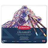 Derwent Colored Pencils, ColourSoft Pencils, Drawing, Art, Metal Tin, 24 Count (0701027) (Color: Assorted, Tamaño: 24 Count)