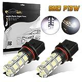 Partsam 2x Xenon Super Bright 6000K White P13W 12277 18-5050-SMD 12V LED Bulbs for 2011-2012 Chevrolet Camaro Daytime Running Lamp DRL Fog Driving Light