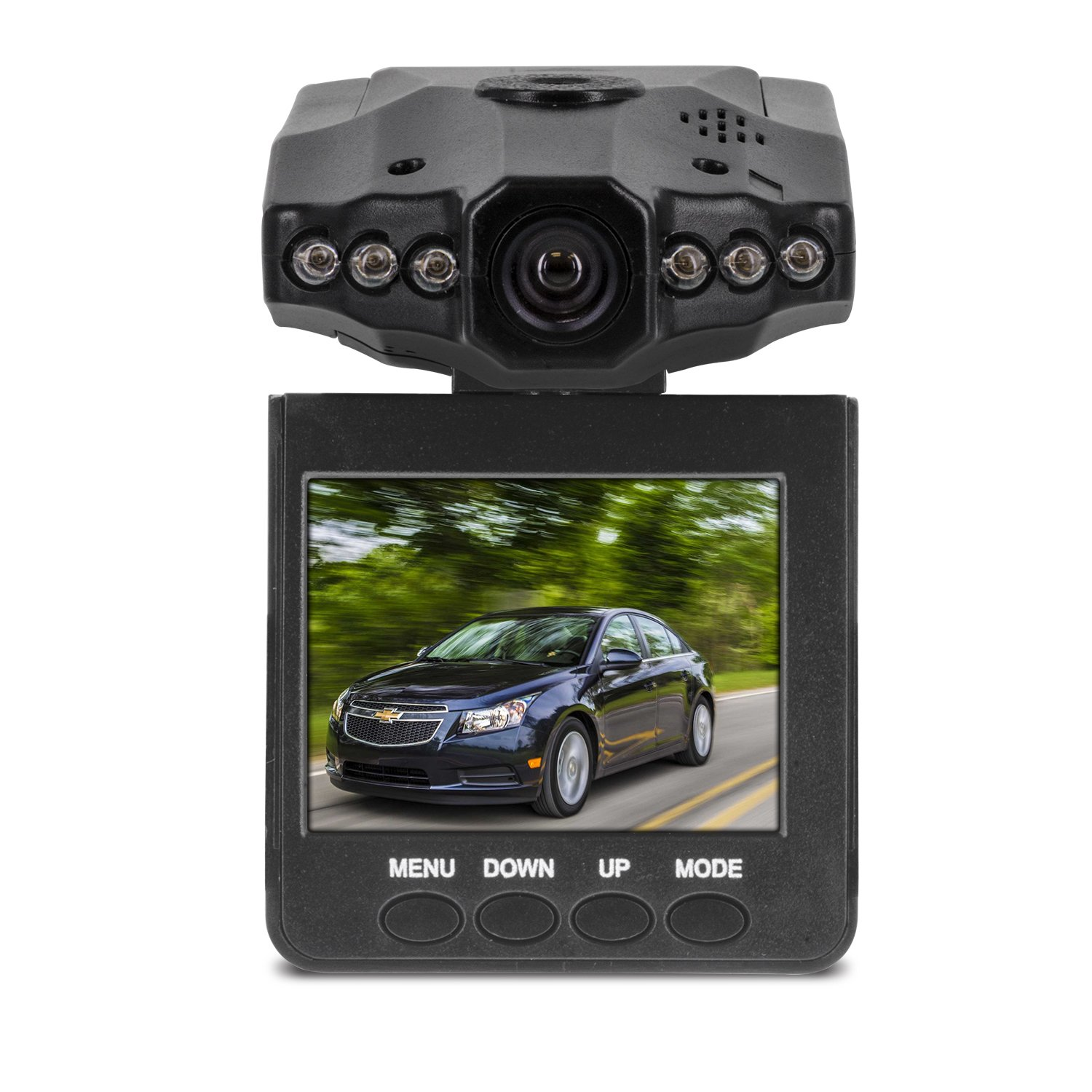 Aduro® U-DRIVE DVR Video / Audio Dash Cam w/ Infrared Night Vision LED