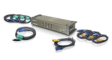 IOGEAR 4 Port Dual View KVM Switch w/ Audio/USB Periph Sharing, GCS1744 (w/ Audio/USB Periph Sharing)
