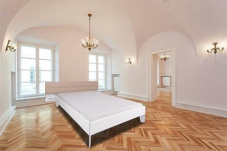 Juego de ropa de cama - cama doble - de madera maciza de - colour blanco - colour marrón - Cojín para la cabeza de la pieza de 140 x 200, 180 x 200, 180 x 200 cm - H3