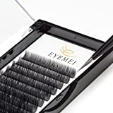 C Curl Eyelash Extensions 0.15 Volume Natural Faux Individual Black Eyelashes Extension 8-14mm Mixed Tray Salon Perfect Use by EYEMEI