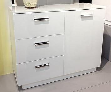 kommode darcon hochglanz weiss 105x85 cm mit led dc606. Black Bedroom Furniture Sets. Home Design Ideas