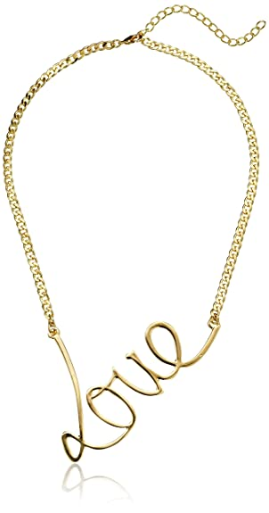 "Script ""Love"" Necklace, 20"" -- $8.45"