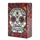 Tpingfe Cigarette Box, Sugar Skull Plastic Holder Pocket Tobacco Storage Hard Case (G) (Color: G)