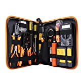 Professional Network Tool Kits - Net Computer Maintenance,Cable Tester 17 in 1 Repair Tools - RJ45 Connectors,Cable Tester,Crimp Pliers tool,Wire Punch Down,stripping pliers Tool Set (Color: 17 in 1, Tamaño: 17 in 1)