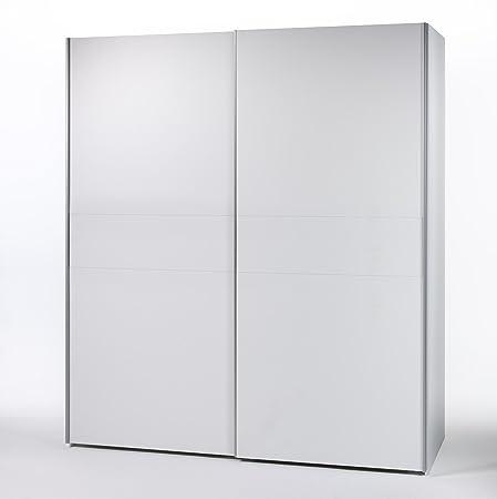 """Schwebeturenschrank """"VICTOR 4"""" Kleiderschrank Schrank Schlafzimmer / Weiß / 215 x 210 cm"""