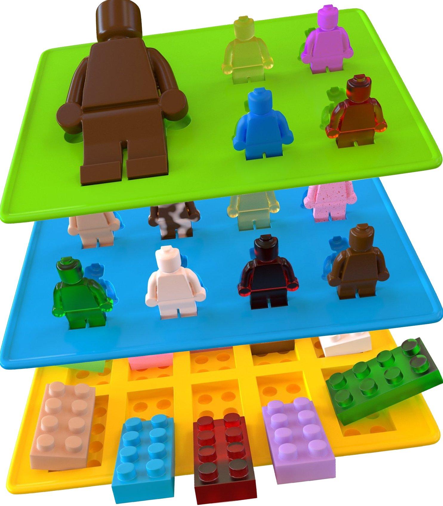 ... Molds Silicone Ice Cube Tray Lego Building Blocks Jello An | eBay